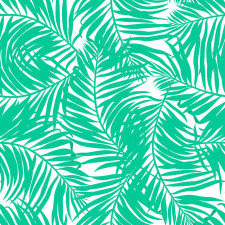 Tropical lush palms seamless pattern