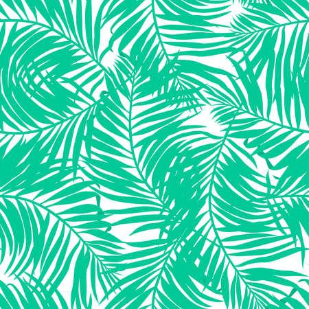 Weelderige tropische palmen naadloos patroon Stock Illustratie