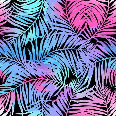 tropicale: Palmiers seamless pattern dans les couleurs.