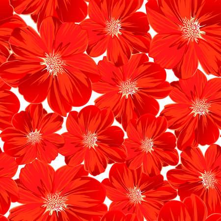 petites fleurs: Petites fleurs rouges dans un pattern. Illustration