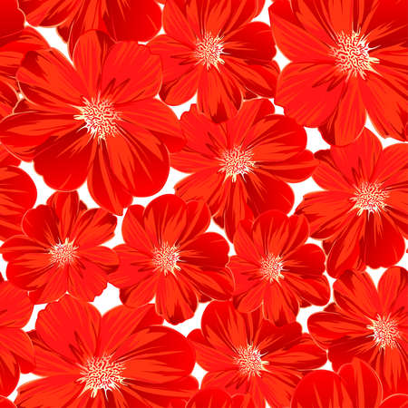 seamless floral: Small red flowers in a seamless pattern . Illustration