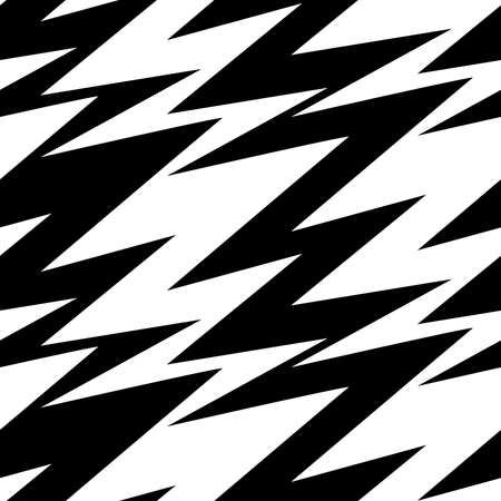 Black and white abstract lightning seamless pattern.