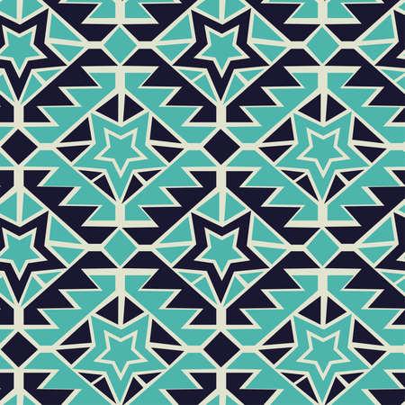 turquesa: Tribal turquoise and navy geometric tribal seamless pattern.