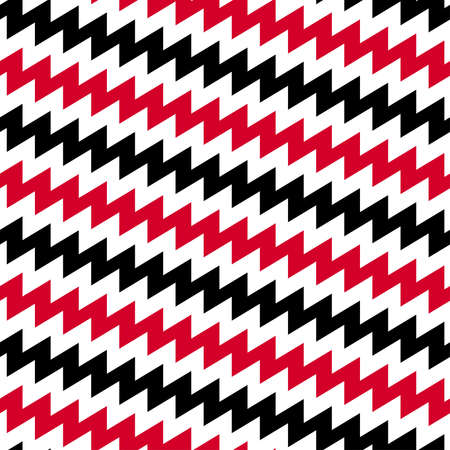 red and white: Red Black and white diagonal chevron seamless pattern. Illustration