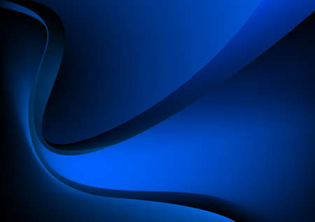 Blue glowing graphic wave on black background. Illustration