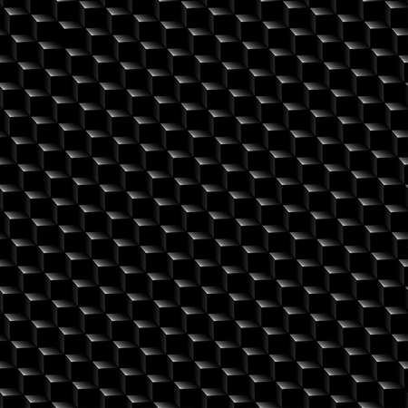 abstract cubes: Black graphite cubed texture seamless pattern .