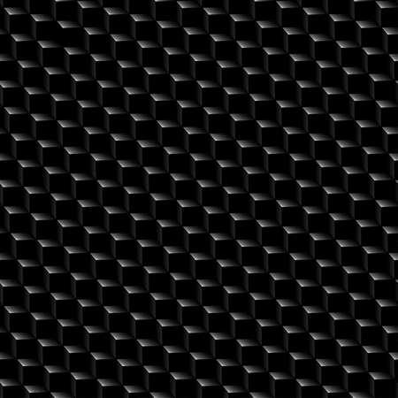 grafit: Czarny grafit sześcianu tekstury bez szwu. Ilustracja