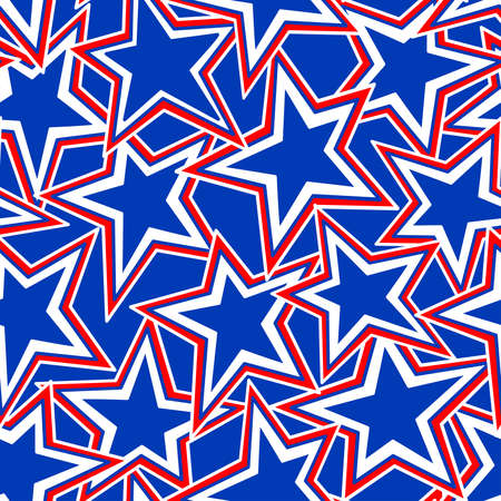 star pattern: USA Star abstract illustration in a seamless pattern .