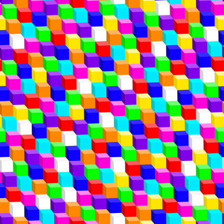 re: Colorful 3D cube in a seamless pattern .
