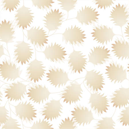 pointy: Brown pointy leaves in a seamless pattern .