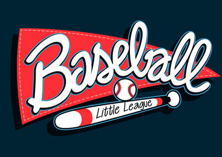 sports league: Baseball league childrens banner background .