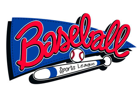 sports league: Baseball sports league childrens banner background .