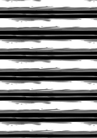 distress: Distressed black and white stripe repeat pattern .