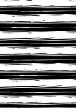 stripe: Distressed black and white stripe repeat pattern .