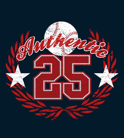 distressed: Baseball authentic jersey distressed print . Illustration