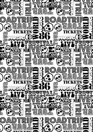 road trip: Road trip music festival tour repeat pattern .