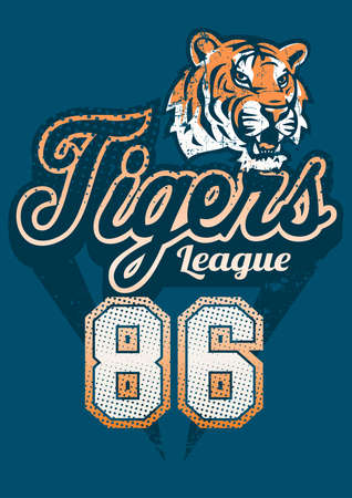sports jersey: Tiger sports league jersey print .