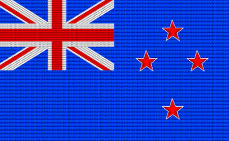 digitizer: New Zealand flag embroidery design pattern . Illustration