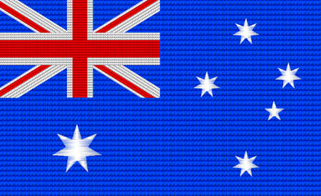 digitizer: Australian flag embroidery design pattern . Illustration