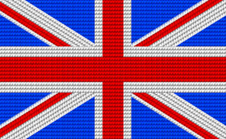 digitizer: UK flag embroidery design pattern .