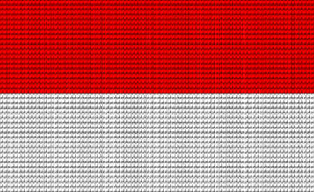 digitizer: Indonesia flag embroidery design pattern . Illustration
