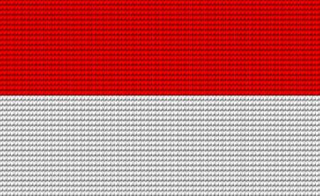 digitizer: Indonesia flag embroidery design pattern . Illustration