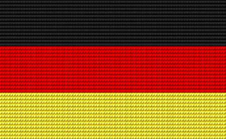 digitizer: Germany flag embroidery design pattern .
