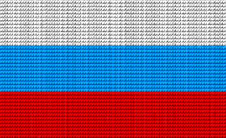 bandera rusia: Bandera de Rusia bordado patrón de diseño. Vectores