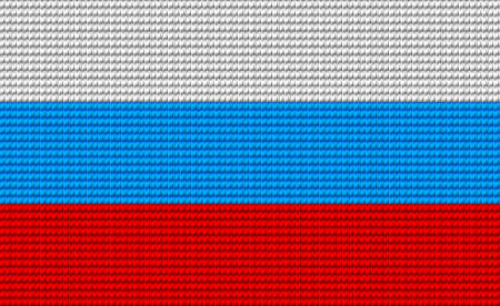 digitizer: Russia flag embroidery design pattern . Illustration