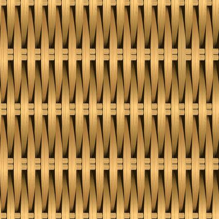 Cane wicker woven fiber seamless pattern .
