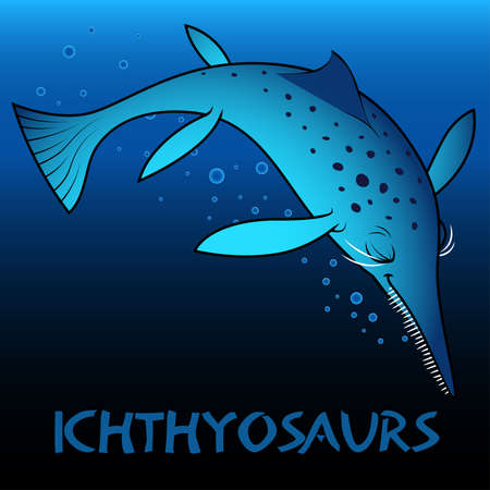 bipedal: Ichthyosaurs cute character dinosaurs .