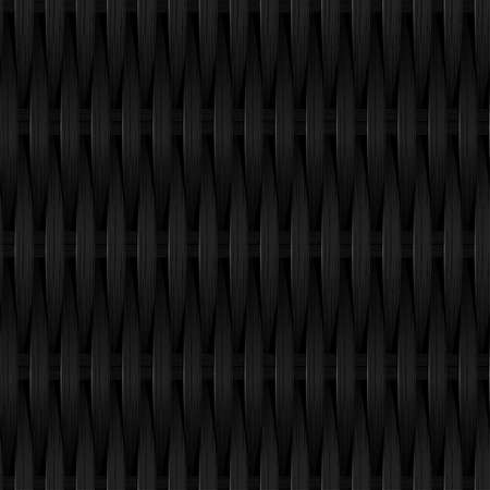 plat: Black cane wicker woven fiber seamless pattern .