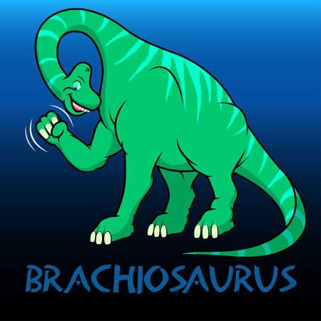 bipedal: Brachiosaurus cute character dinosaurs .