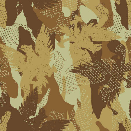 disruptive: Desert eagle military camouflage seamless pattern . Illustration