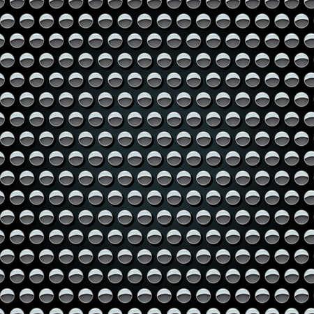 Metal studs on black background seamless pattern . Vetores