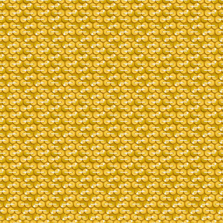 stitching: Gold shiny sequins with stitching seamless pattern .