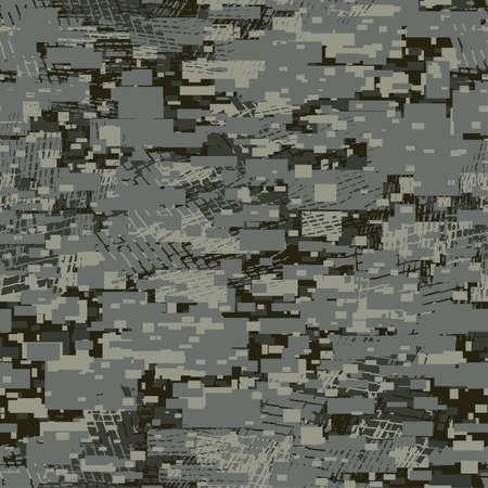 Camouflage urban disruptive block khaki seamless pattern . Иллюстрация