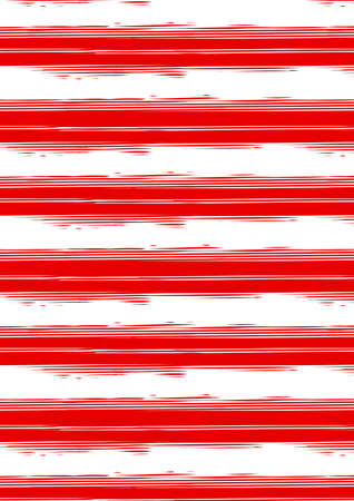 Distressed red and white stripe repeat pattern .