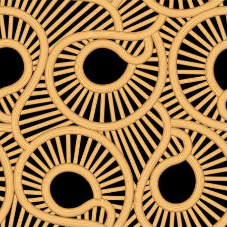 plat: Cane wicker tear drop seamless pattern .