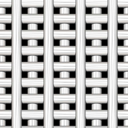 White cane wicker lattice in a seamless pattern .