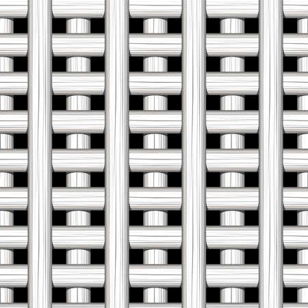 plat: White cane wicker lattice in a seamless pattern .