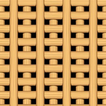 plat: Cane wicker lattice in a seamless pattern .