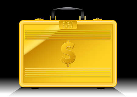robberies: Gold suitcase with $ sign on side