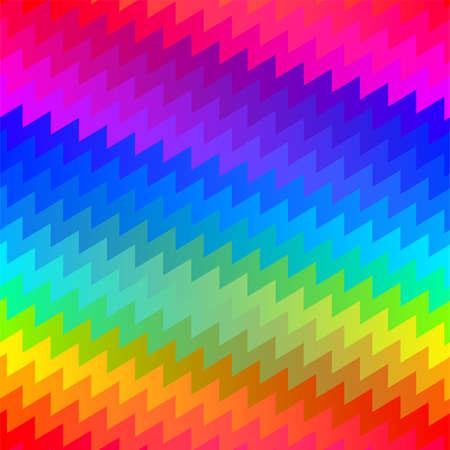 angled: Horizontal zigzag chevron rainbow seamless pattern . Illustration