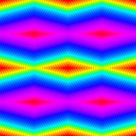 Rainbow geometric tie dye seamless pattern . Illustration
