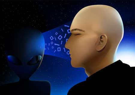 telepathy: Alien visitor from space sharing information .
