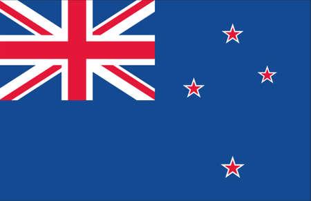 new zealand flag: flag of new zealand original Stock Photo