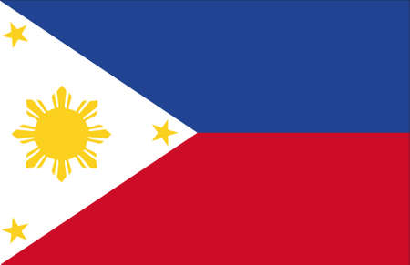 filipina: bandera de Filipinas original Foto de archivo
