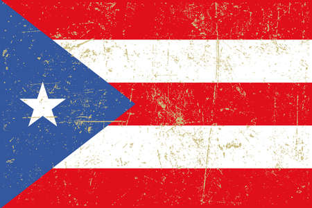 puerto rican: flag of puerto rico grunge