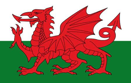 flag of wales original Stock Photo